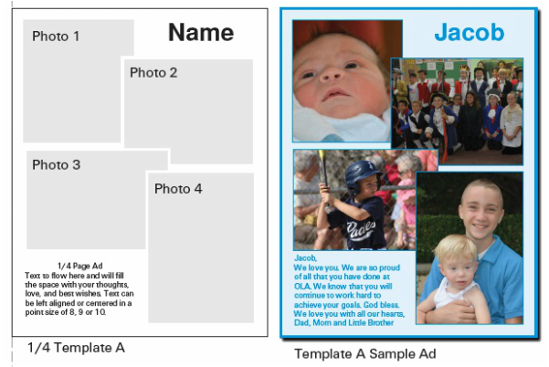 Ad Template Choices And Samples OLA Yearbook - Photography ad template